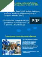 Edukacja humanistyczna w berlińskich szkołach