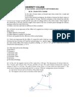 EMG 2208_Mechanics of Machines_Assignment_MMU Sept 2012