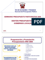 PARTICIPACION GOBIERNO LOCAL 2012