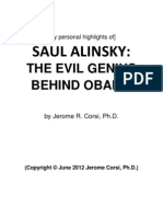 Saul Alinsky the Evil Genius Behind Obama by Jerome r Corsi