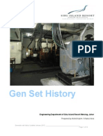 History of Power Supply for Sibu Island Resort