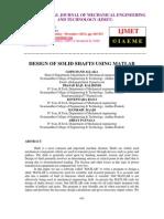Design of Solid Shafts Using Matlab