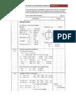 Example 3.8 - Design of Short Column Subjected to Biaxial Bending