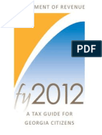 Georgia Dept of Revenue 2012 Tax Guide
