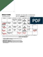 jadual kuliah januari 2013