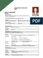 Contoh Format Data Pelamar