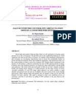 Sale of Over the Counter (Otc) Drugs via Post Offices-A Consumer Perception