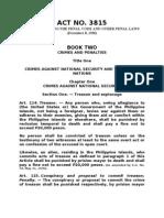 Revised Penal Code (Art. 114-367)