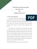 Modul Aplikasi Analisis Faktor Untuk Persamaan Simultan Dengan SPSS Versi 12