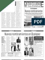 Versión impresa del periódico El mexiquense 3 enero 2013