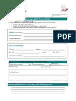 Ficha de inscripción cursos enero 2013