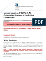 POLITY (1-A)- Outstanding Features of the Indian Constitution - 2012-10-23