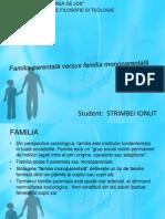 Familia parentală versus familia monoparentală