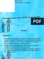 Familia parentala versus familia monoparentala