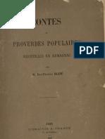 Contes et proverbes populaires recueillis en Armagnac / par Jean-François Bladé