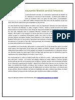 Exclusivosrestaurantes Madrid servicio limusinas.docx