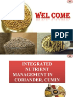 Integrated nutrient management in Seed spices (Fennel, cumin, coriander)
