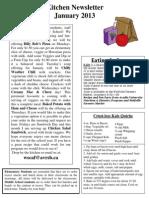 Kitchen Newsletter January 2013