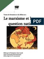 Les marxistes révolutionnaires et la question nationale