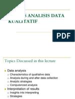 Kuliah 9- Proses Analisis Data Kualitatif