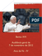 Audiência Geral de 7 de novembro de 2012