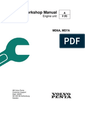 volvo penta md6a, md7a workshop manual piston fuel injection Volvo MD7A Transmission