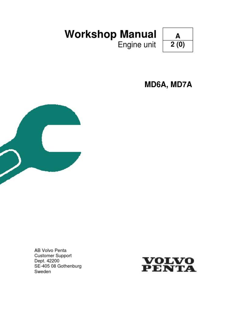 volvo penta md6a md7a workshop manual piston fuel injection rh es scribd com Volvo Manual Transmission volvo penta tamd 41 service manual
