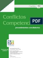 Cartilla CINCO Conflictos Competenciales