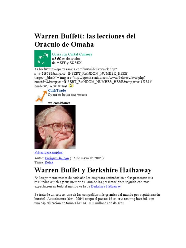 La Cartera De Acciones De Warren Buffett Pdf