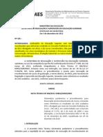 Despacho 185 e nota técnica 806/2012-DIREG/SERES/MEC