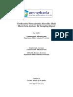 DEP Short Term Air Quality Study Marcellus_NC_05!06!11 (3).PDF--Air Testing DEP