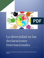 La Diversidad en Las Declaraciones Internacionales
