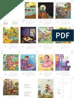 Calendario de mesa ilustrado 2013