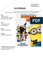 Dive-In Movie Flyer - Jan