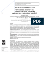 Pressure Points on Pharmaceutical Industry Executives_What Lies Ahead_Glass & Poli