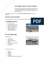 The Precast Concrete Industry and Its Concrete Solutions