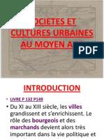 Societes Et Cultures Urbaines Au Moyen Age