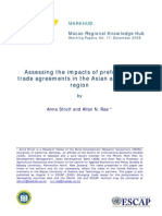 Costs and Benefits Ptas Asia