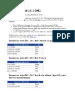 income tax slabe 2011 - 12