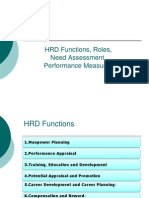 HRD Functions and Roles of HRD Professionals
