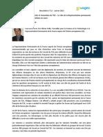 Rencontre avec Eric-Olivier Pallu, Conseiller pour la Science et la Technologie à la Représentation