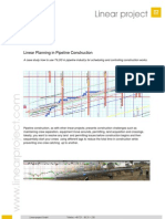 Linear Planning in Pipeline Construction