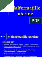 Malformatiile Uterine. Neoplasmul de Corp Uterin