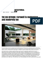 The Big Rethink - Farewell to modernism