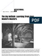 The Big Rethink -Learning from four modern masters