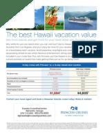 Princess Hawaii Vacation Comparison