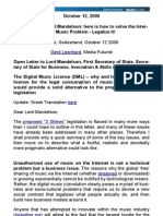 Legalize Digital Music - Open Letter to Lord Mandelson (Gerd Leonhard)