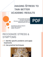 Managing stress to obtain better academic results