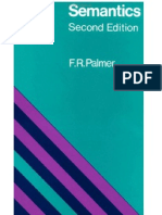 Palmer, f.r. - Semantics-A New Outline