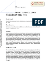 Social theory and Talcott Parsons in the 1980